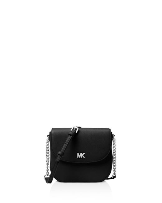 MICHAEL Michael Kors - Black Half Dome Leather Crossbody - Lyst
