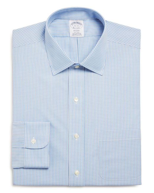 Brooks Brothers - Blue Gingham Classic Fit Dress Shirt for Men - Lyst