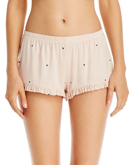 Eberjey Natural Dots Ruffle Shorts