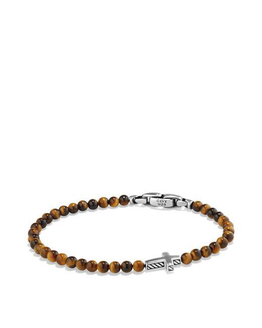David Yurman - Metallic Spiritual Beads Pave Station Bracelet With Tigers Eye And Cognac Diamonds - Lyst