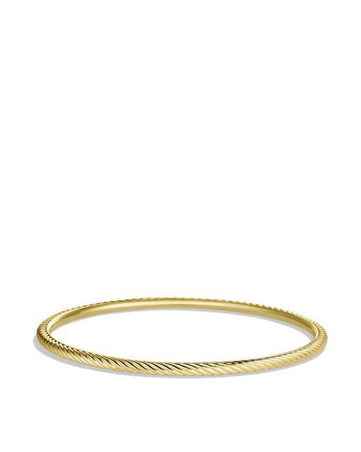 David Yurman | Yellow Cable Classics Bangle In Gold | Lyst