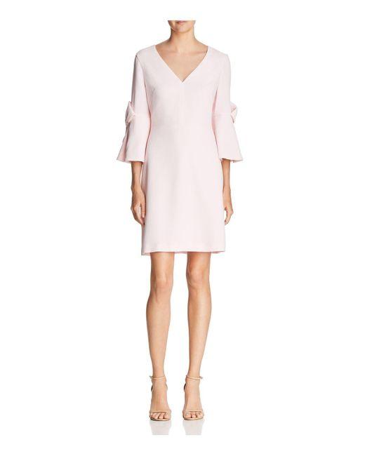 Eliza J - Pink Bow-detail Dress - Lyst