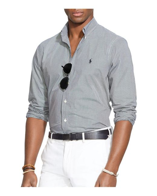 Polo Ralph Lauren | Black Checked Poplin Button-down Shirt - Classic Fit for Men | Lyst