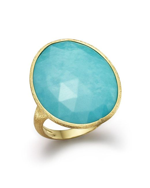 Marco Bicego | Blue 18k Yellow Gold Turquoise Ring | Lyst
