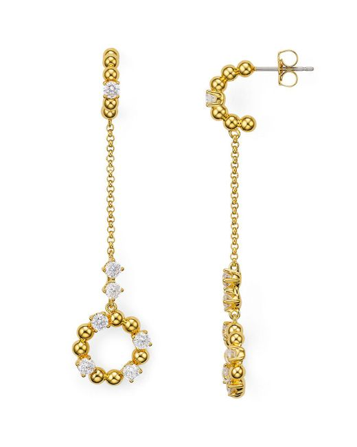 Nadri | Metallic Eclat Cubic Zirconia Chain Drop Earrings | Lyst