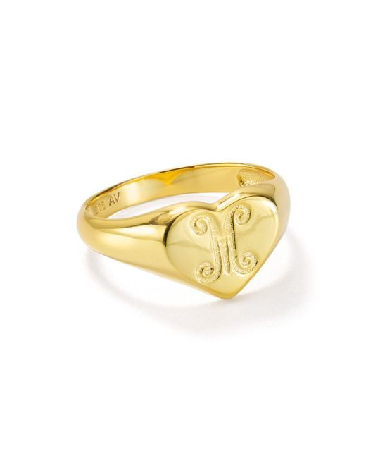Argento Vivo Metallic Signet Ring In 18k Gold - Plated Sterling Silver