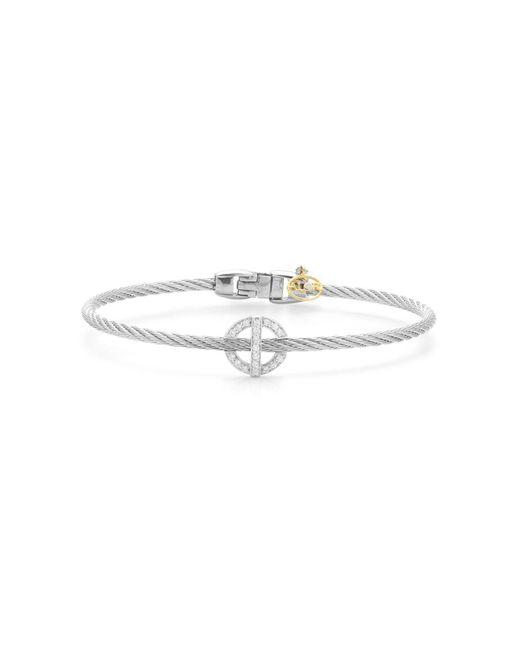 Alor - Metallic Diamond Grey Cable Bangle - Lyst