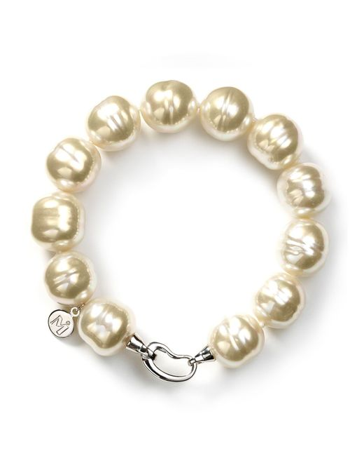 Majorica | White Baroque Simulated Pearl Bracelet | Lyst