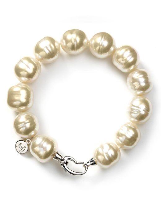 Majorica | White Baroque Simulated Pearl Bracelet | Lyst