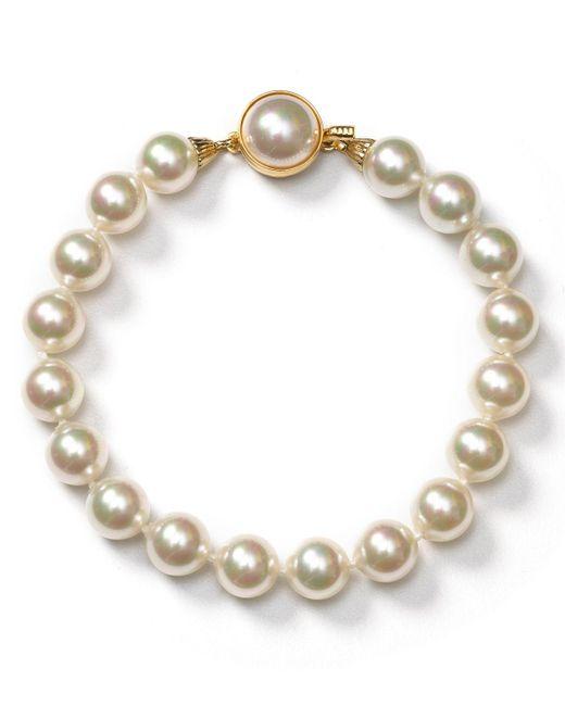 Majorica | White Simulated Pearl Bracelet | Lyst