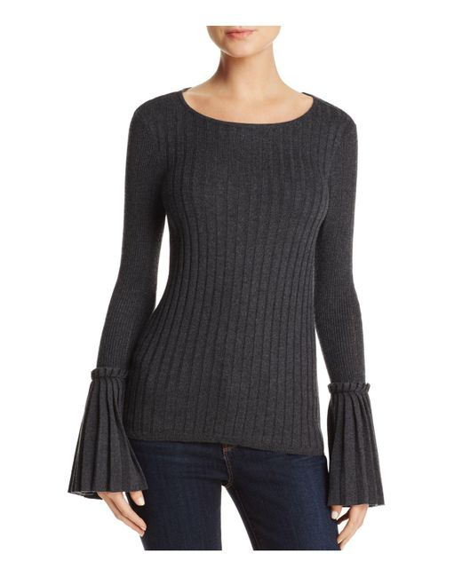 Aqua | Gray Bell Sleeve Sweater | Lyst