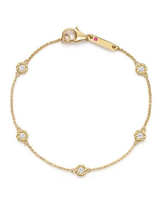 Roberto Coin - Metallic 18k Yellow Gold Barocco Round Diamond Bracelet - Lyst