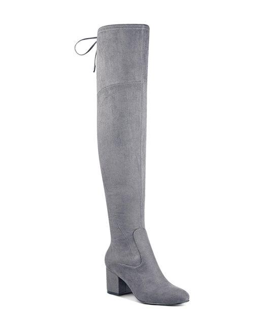 Ivanka Trump | Gray Pelinda Faux Suede Over-the-knee Boots | Lyst