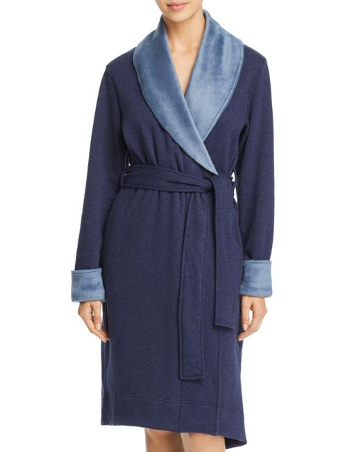 cea06f9593 Ugg - Blue Duffield Ii Double-knit Fleece Robe - Lyst ...