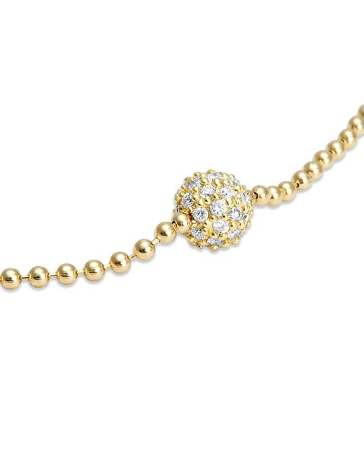 Lagos Metallic 18k Gold And Diamond Bracelet