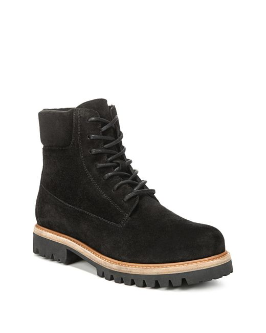 Vince - Black Women's Farley Suede Lace Up Combat Boots - Lyst