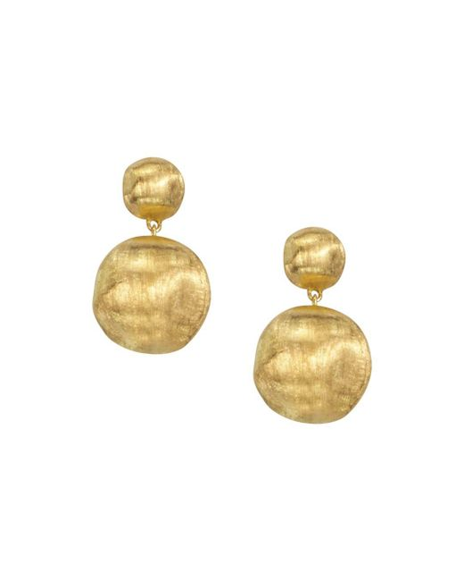 """Marco Bicego - Metallic """"africa Collection"""" 18k Yellow Gold Bead Drop Earrings - Lyst"""