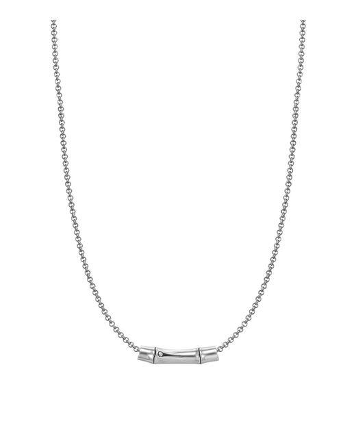 John Hardy   Metallic Bamboo Silver Slider Pendant On Chain Necklace   Lyst