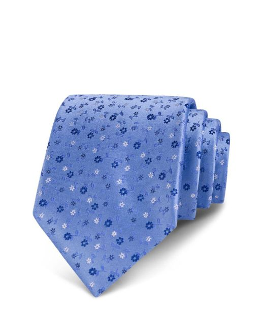 Bloomingdale's - Blue Ditsy Tossed Floral Classic Tie for Men - Lyst