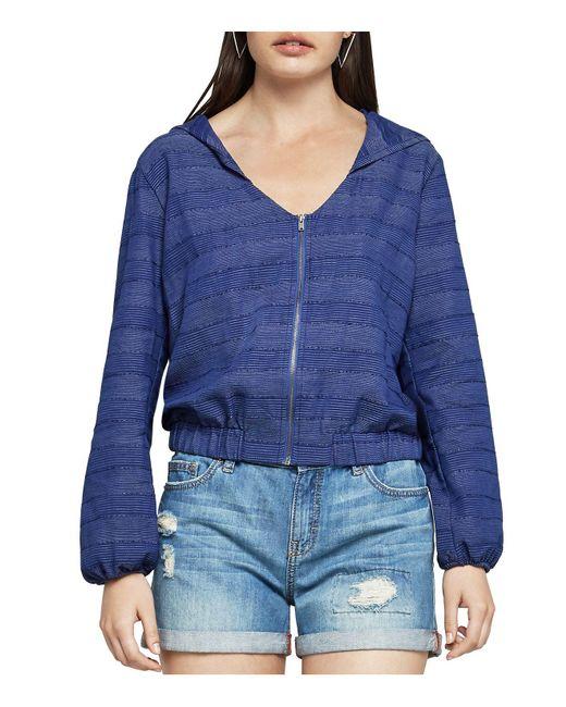 BCBGeneration | Blue Zip-front Hooded Jacket | Lyst