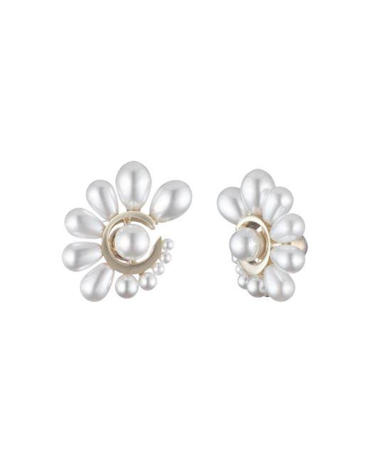 Carolee White Simulated Pearl Gradient Earrings