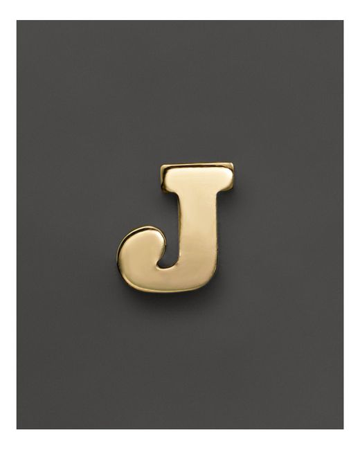 Zoe Chicco - 14k Yellow Gold Single Initial Stud Earring - Lyst