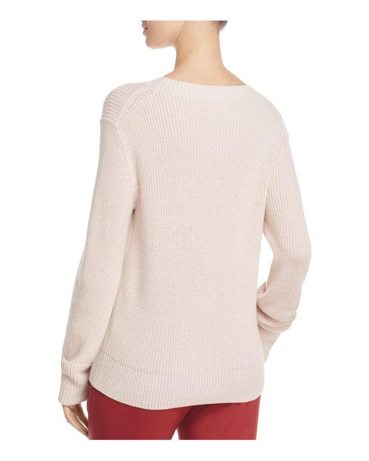 Theory Ribbed Sweater in Pink | Lyst