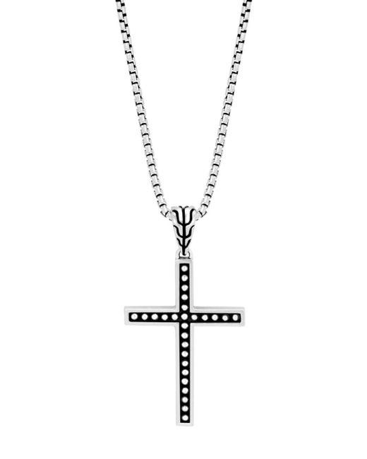 John Hardy Metallic Men's Classic Chain Jawan Cross Pendant Necklace for men
