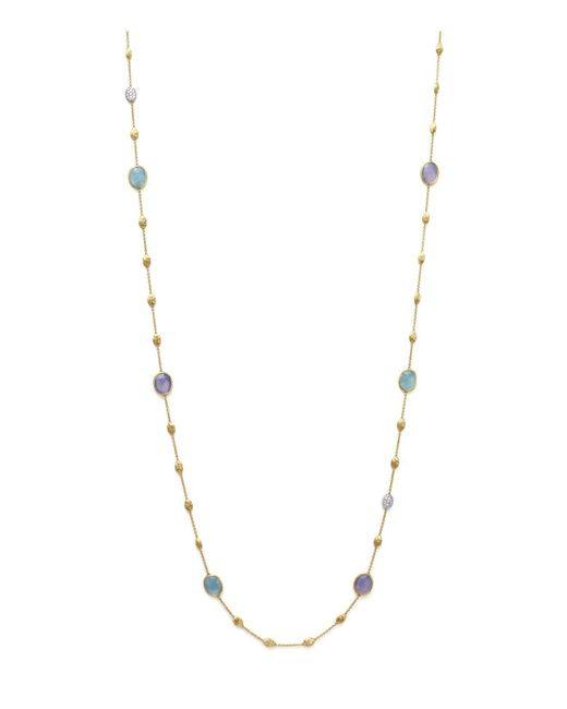 Marco Bicego | Multicolor Chalcedony And Diamonds In 18k Yellow Gold | Lyst