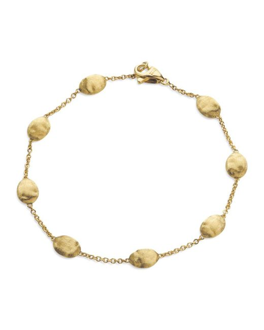 """Marco Bicego - Metallic """"siviglia Collection"""" Bracelet In 18 Kt. Yellow Gold - Lyst"""