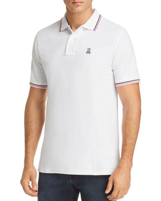 Psycho Bunny - White Neon Bunny Polo Shirt for Men - Lyst