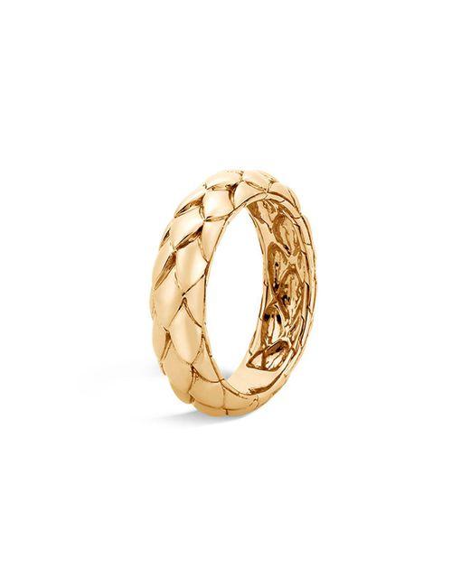 John Hardy - Metallic 18k Yellow Gold Legends Cobra Band Ring - Lyst