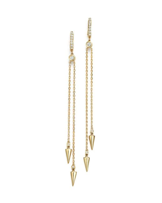 KC Designs | Metallic Diamond Spike Drop Earrings In 14k Yellow Gold | Lyst