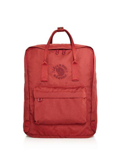 Fjallraven - Red Water-resistant Re-kanken Backpack for Men - Lyst