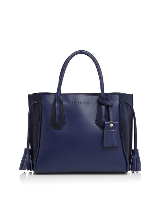 Longchamp | Blue Penelope Fantaisie Small Leather Tote | Lyst