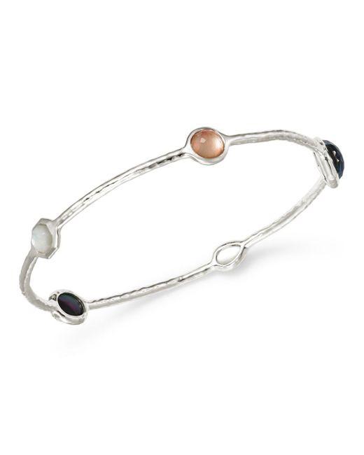 Ippolita - Metallic Clear Quartz & Black Shell Bangle Bracelet - Lyst