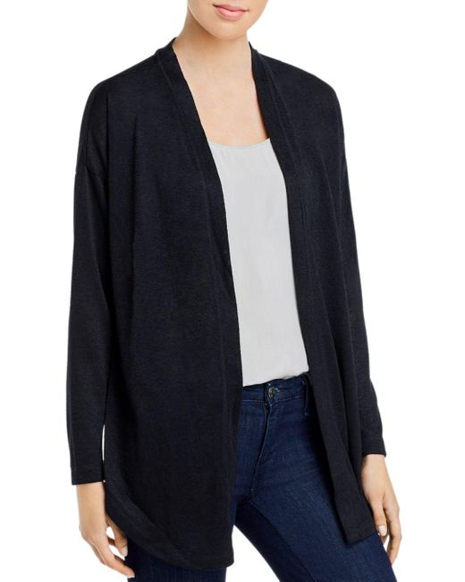 B Collection By Bobeau Black Cecile Convertible Tie - Front Cardigan
