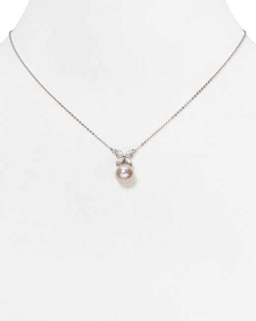 Majorica Metallic Simulated Pearl Butterfly Pendant Necklace