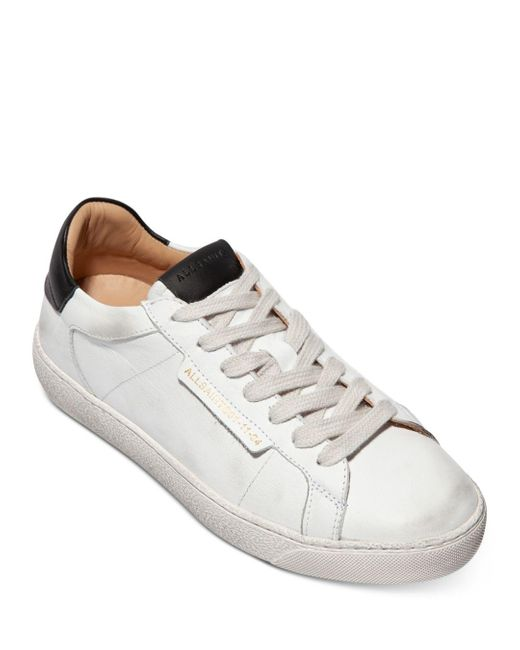 AllSaints White Sheer Lace Up Sneakers