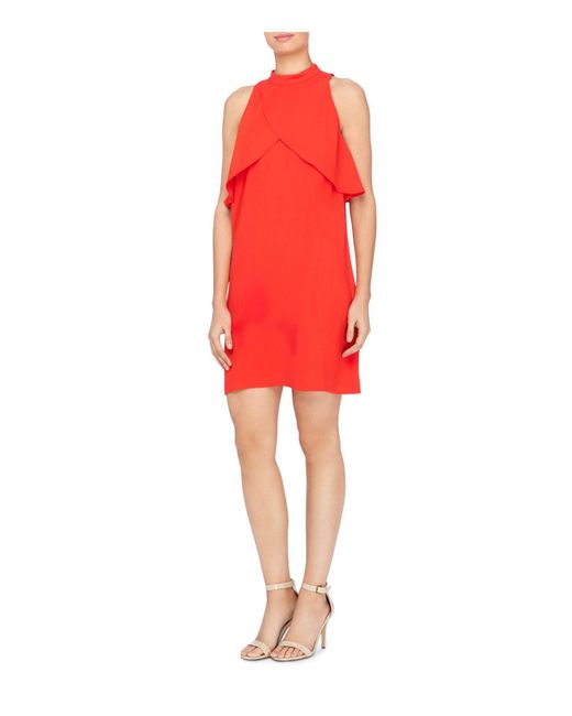 Catherine Malandrino | Red Aldridge Crossover-flutter Dress | Lyst