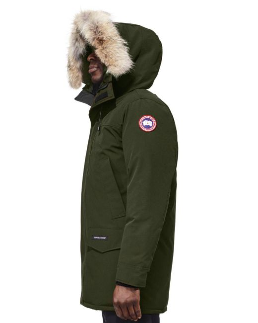 Canada Goose Blue Langford Parka With Fur Hood for men