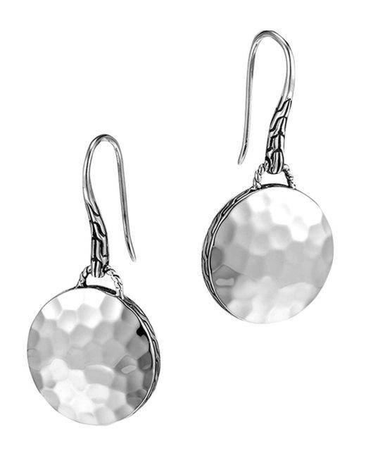 John Hardy - Metallic Palu Sterling Silver Round Drop Earrings - Lyst