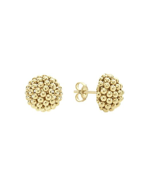 Lagos - Metallic Caviar Gold Collection 18k Gold Stud Earrings - Lyst