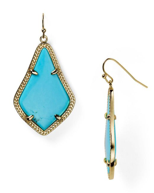 Kendra Scott - Blue Alex Earrings - Lyst