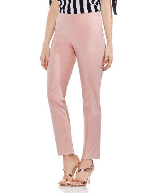 Vince Camuto - Pink Side Zip Skinny Pants - Lyst