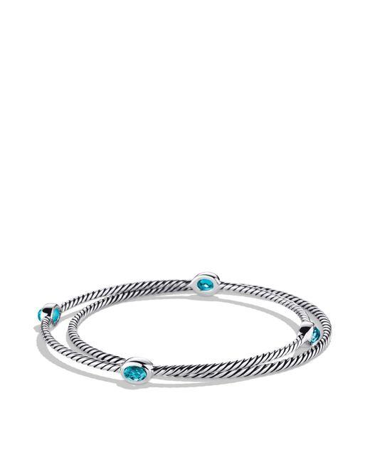 David Yurman | Color Classics Bangles With Blue Topaz | Lyst
