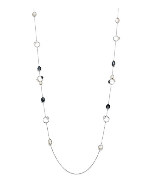 Ippolita | White Hematite Doublet And Clear Quartz Necklace In Piazza | Lyst