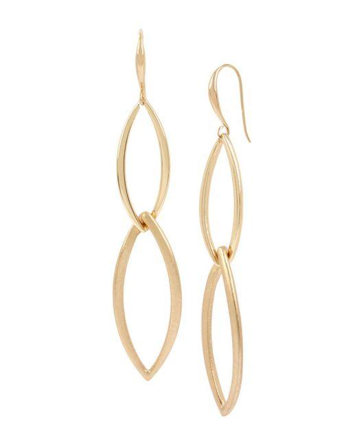 Robert Lee Morris - Metallic Linked Double Drop Earrings - Lyst