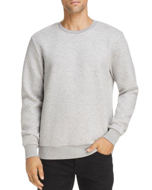 Scotch & Soda - Gray Quilted Crewneck Sweatshirt for Men - Lyst
