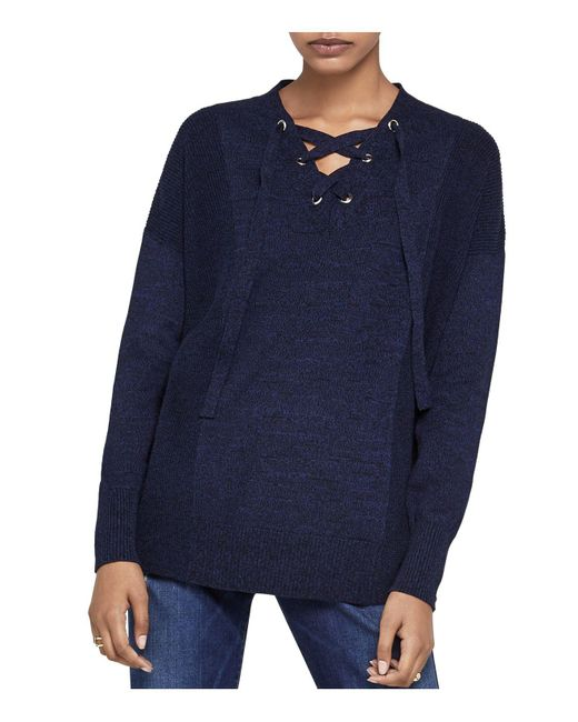 BCBGeneration | Blue Lace-up Sweater | Lyst